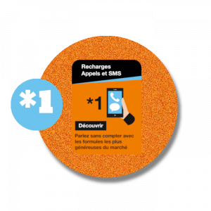 recharge en ligne Orange  Appels et SMS : *1 par paypal