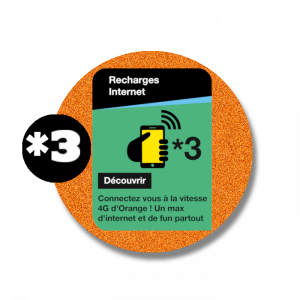 recharge en ligne Orange Internet *3  par paypal