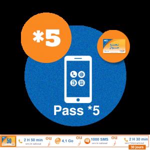 recharge  iam en ligne maroc telecom par paypal Pass Jawal *5  50 DH