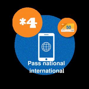 recharge en ligne maroc telecom par paypal Pass Jawal national et international 50