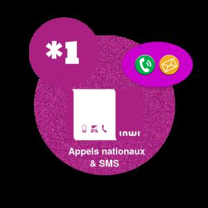 Recharge en ligne inwi  Appels nationaux & SMS  : *1 par paypal