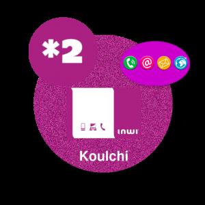 Recharge en ligne inwi  kolchi : *2 par paypal
