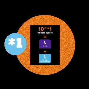 recharge en ligne Orange  Appels et SMS- *1 par paypal 10 DH