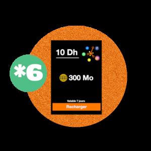 recharge en ligne Orange Recharge Réseaux Sociaux : *6 - 10DH par paypal