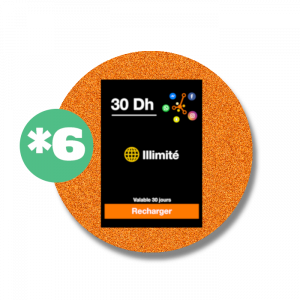recharge en ligne Orange Recharge Réseaux Sociaux : *6  30 DH par paypal