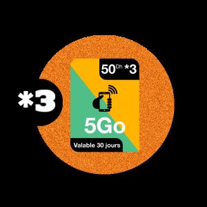 recharge en ligne Orange Internet par paypal 50 DH