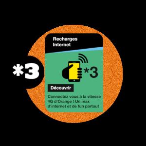recharge en ligne Orange Internet *3  par paypal
